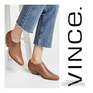 Vince🍁🍂Eage tan Leather booties size 37.5